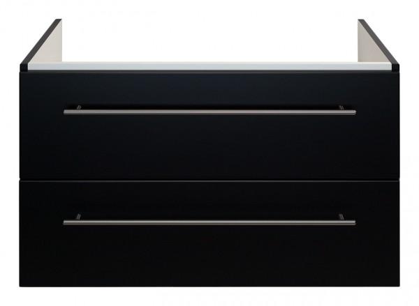 Waschtisch Unterschrank schwarz Seidenglanz 80 cm für Keramag Myday