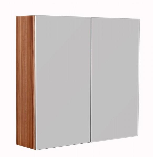Spiegelschrank Bad walnuss 66 cm für Gäste WC