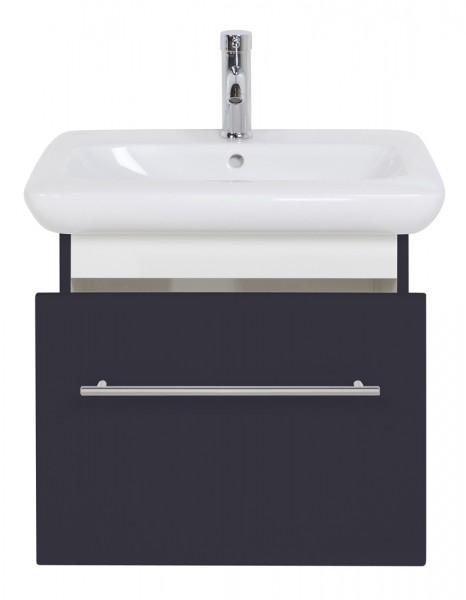 Design Unterschrank 60 cm anthrazit seidenglanz mit Waschbecken Keramag It