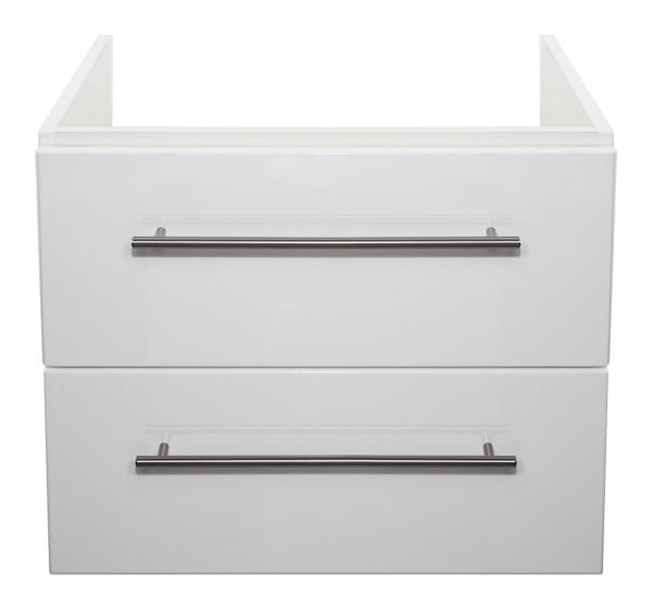 Badezimmer Unterschrank in Hochglanz weiß für Keramag Icon Waschbecken 60 cm