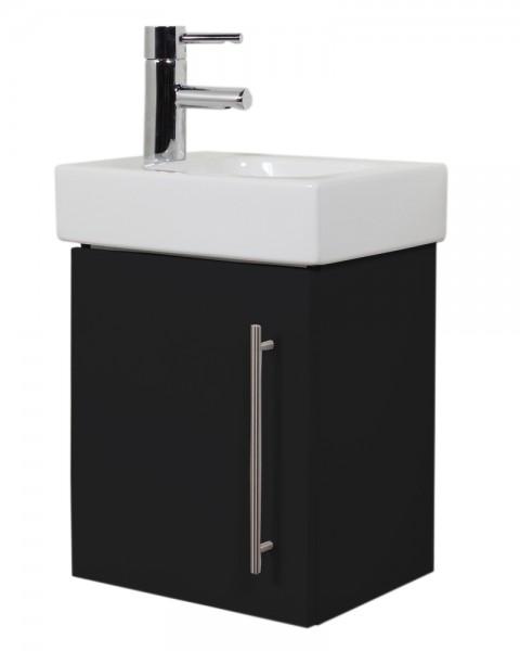 Waschtisch Unterschrank für Keramag Icon Waschbecken in schwarz seidenglanz 38 cm
