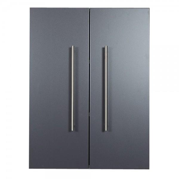 Hängeschrank Badezimmer in anthrazit Seidenglanz mit 2 Türen
