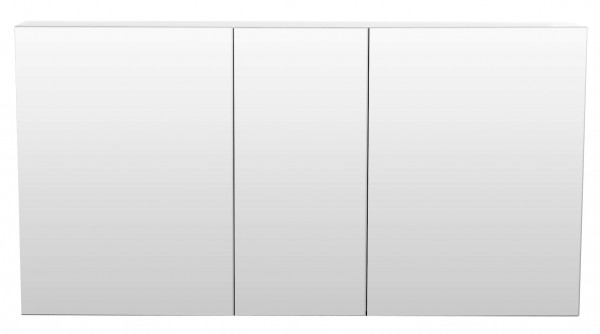 Spiegelschrank Bad hochglanz weiß 120 cm