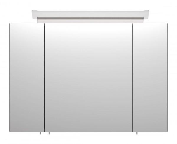 Bad Spiegelschrank 90 cm gemasert mit LED Lampe