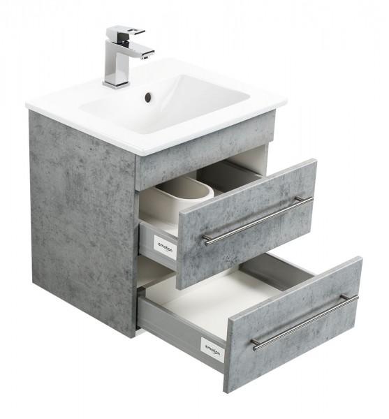 Waschtisch mit Unterschrank Villeroy und Boch Venticello 50 cm Beton