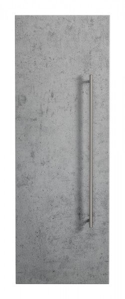 Bad Hochschrank in Beton Optik mit einer Höhe von 100 cm mit 3 Böden