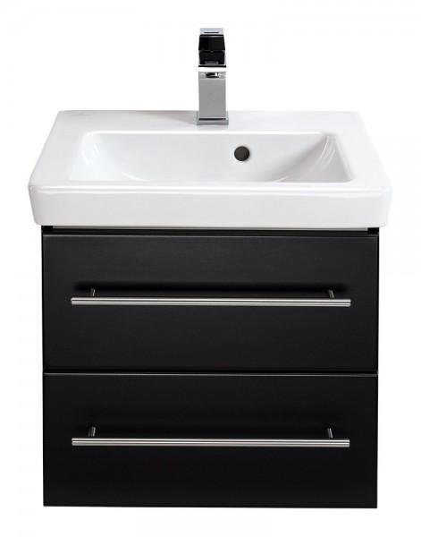Villeroy und Boch Subway 2.0 Waschtisch mit Unterschrank 50 cm schwarz seidenglanz