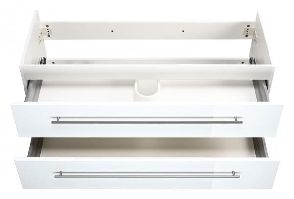 Waschtischunterschrank 100 cm weiss hochglanz subway 2.0 Waschbecken