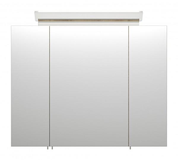 Badezimmer Spiegelschrank 80 cm eiche Seidenglanz