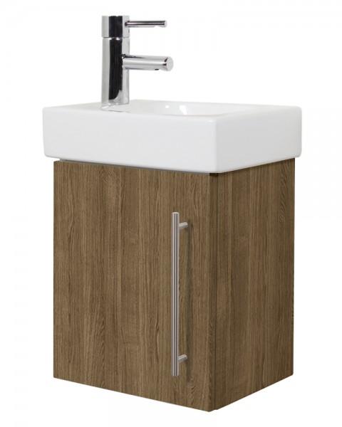 Unterschrank für Keramag Icon Waschbecken in nussbaum seidenglanz 38 cm breit