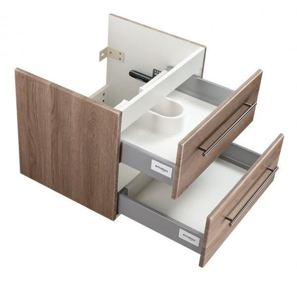 Badezimmer Unterschrank für Keramag IT Waschbecken in eiche Hell 60 cm