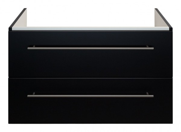 Waschtisch Unterschrank 90 cm für Keramag Icon schwarz Seidenglanz