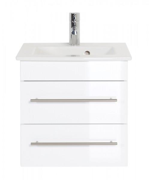 Villeroy und Boch Waschbecken mit Unterschrank Venticello 50 cm Hochglanz weiss