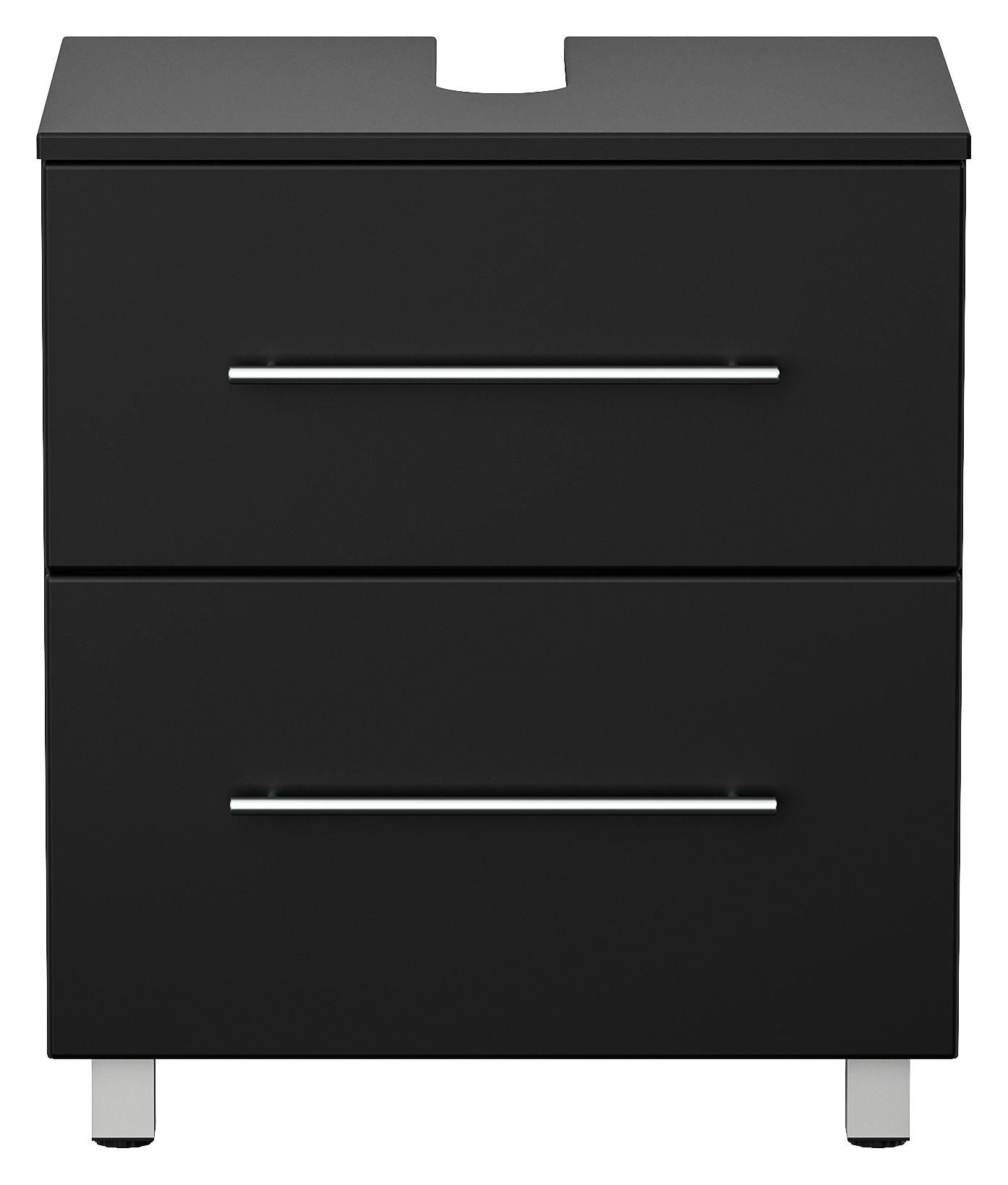 Universal Waschbeckenunterschrank schwarz 20 cm auf Standfüssen