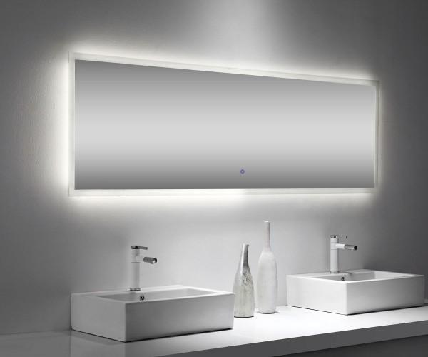 Design Lichtspiegel 200x65 cm LED Beleuchtung mit Touch Bedienung