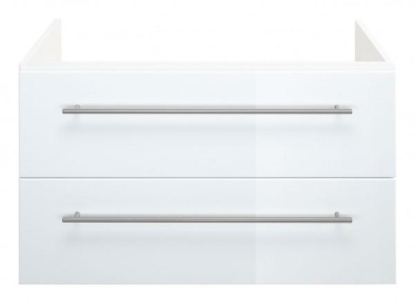 Waschtischunterschrank 80 cm weiß Hochglanz für Villeroy Boch Subway 2.0 Waschbecken
