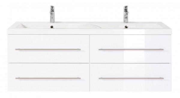 Waschbeckenunterschrank-143cm-weiss-hochglanz-mit-doppelwaschbecken