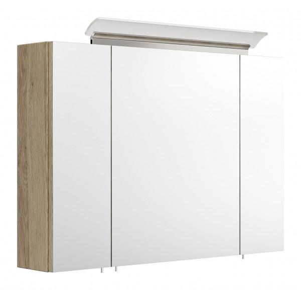 Spiegelschrank Gäste WC 90 cm eiche hell