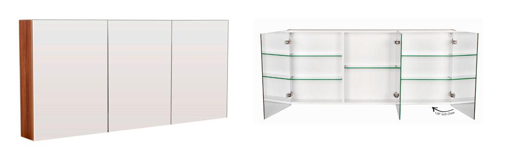 Bad Spiegelschrank mit Softclose Türdämpfung