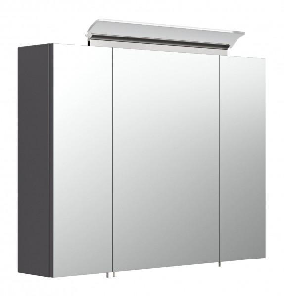 Bad Spiegelschrank anthrazit 80 cm mit LED Lampe