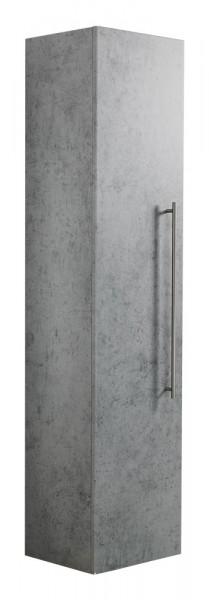 Hochschrank Badezimmer in Beton mit fünf Einlegeböden 150 cm