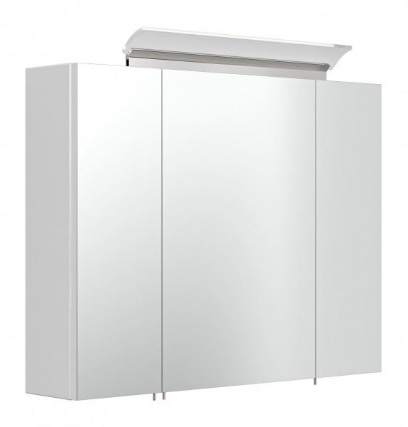 Bad Spiegelschrank in Hochglanz weiß 80 cm breit