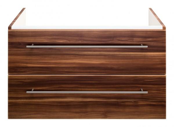Waschtisch Unterschrank für Keramag Icon 75 cm walnuss Seidenglanz