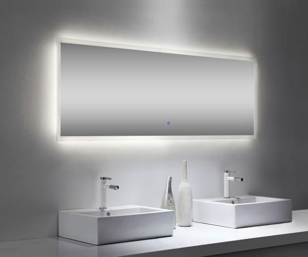 Design Lichtspiegel Badezimmer mit Touch Bedienung 180x65 cm
