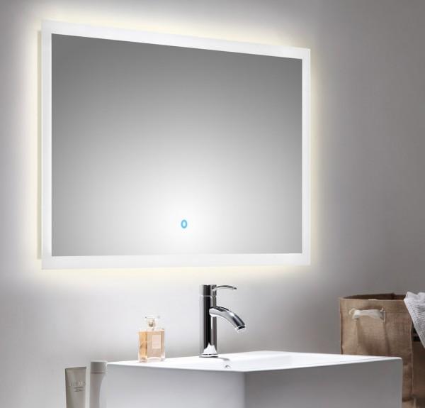 Design Badezimmer Lichtspiegel 100x60 cm mit Touch Bedienung