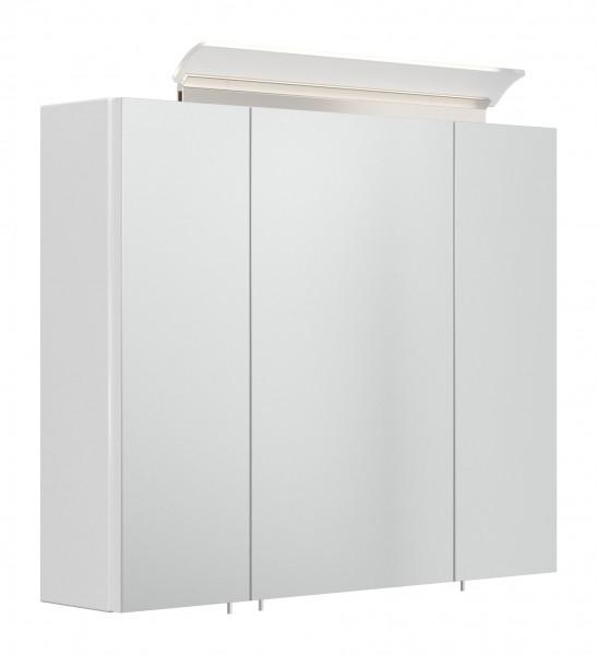 Hochglanz weiß Bad SPiegelschrank 75 cm breit
