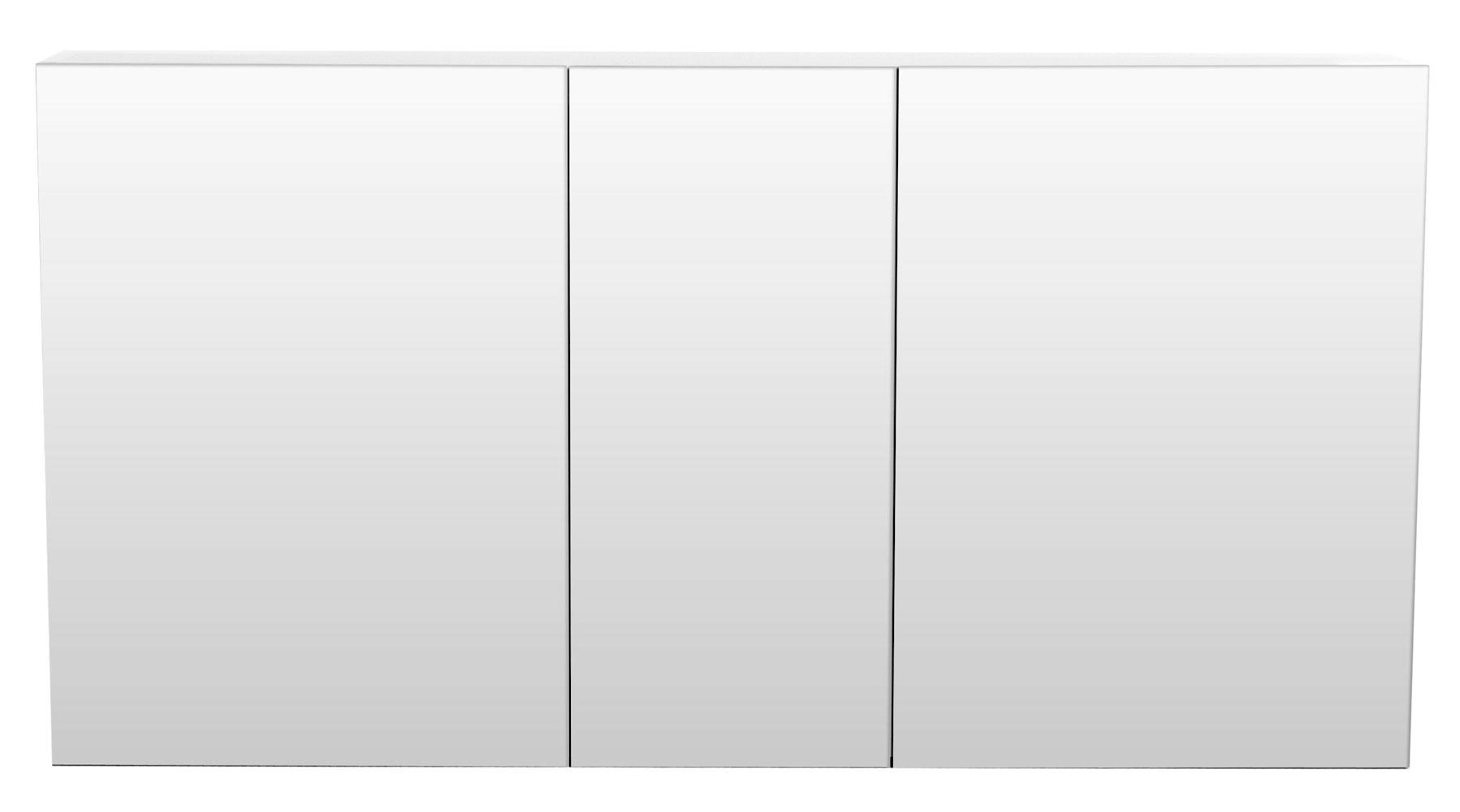 Spiegelschrank bad 120 cm hochglanz wei for Spiegelschrank bad 120 cm