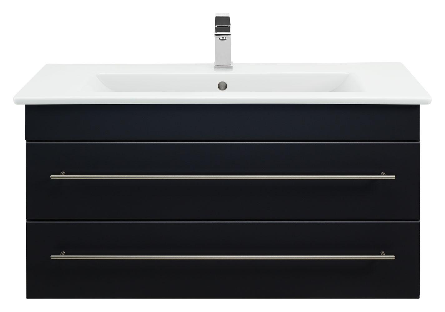 bad unterschrank 80 cm schwarz mit waschbecken venticello. Black Bedroom Furniture Sets. Home Design Ideas