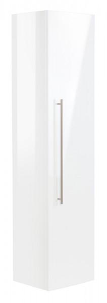Bad Hochschrank in Hochglanz weiß und einer Höhe von 150 cm