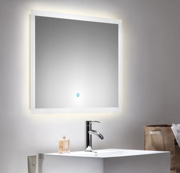 Lichtspiegel mit LED Beleuchtung und Touch Bedienung 80x60 cm