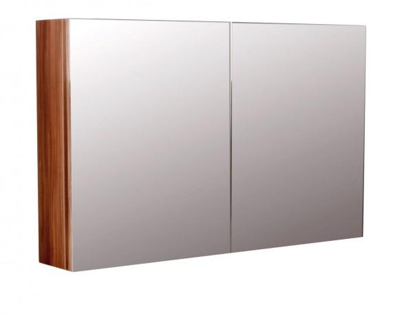 Spiegelschrank Badezimmer 100 cm walnuss seidenglanz