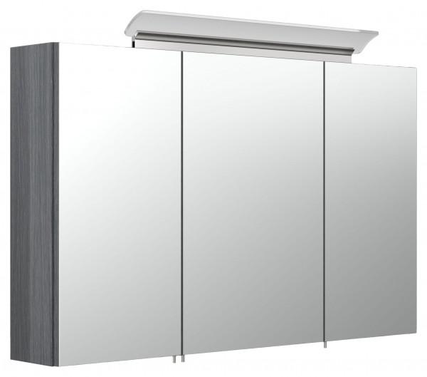 Bad Spiegelschrank 100 cm anthrazit gemasert