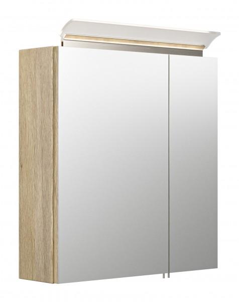 Spiegelschrank Bad 60 cm eiche hell