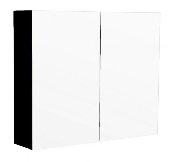 Bad Spiegelschrank 75 cm schwarz seidenglanz