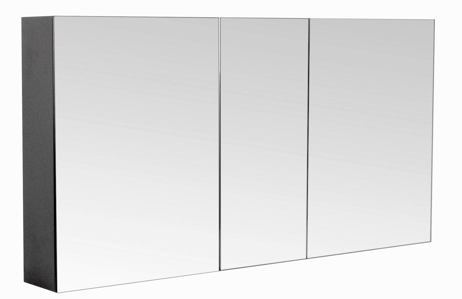 Bad Spiegelschrank 120 cm anthrazit seidenglanz