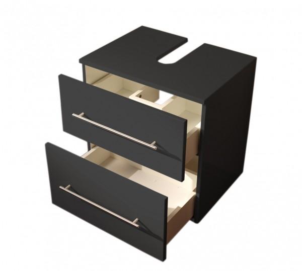 Universal Waschbeckenunterschrank mit Rollen und 2 Schubladen 55 cm anthrazti