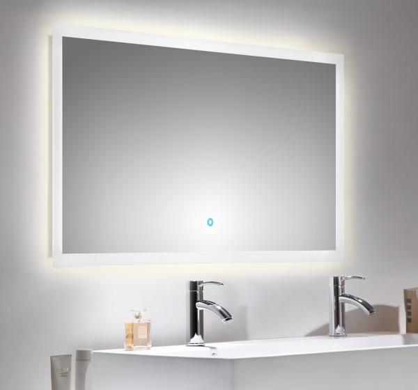 Lichtspiegel mit LED Beleuchtung und Touch Bedienung 120x65cm