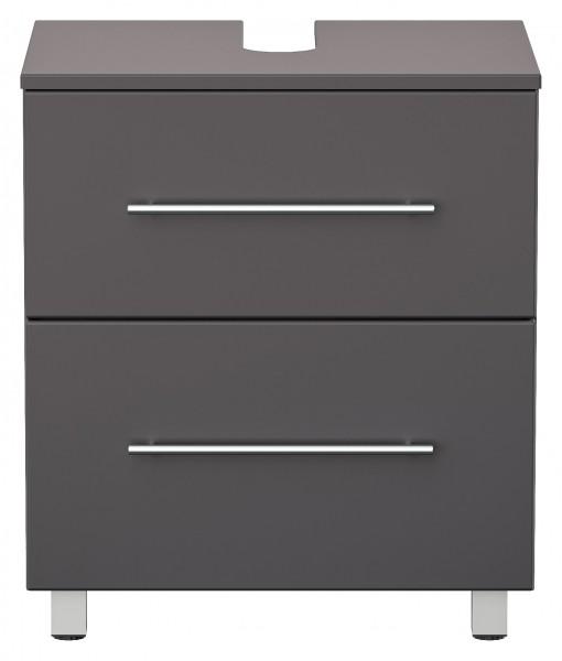 Universal Waschbeckenunterschrank mit Standfüssen und 2 Schubladen 55 cm anthrazti