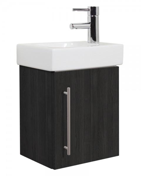 Unterschrank für Keramag Icon Waschbecken anthrazit gemasert 38 cm