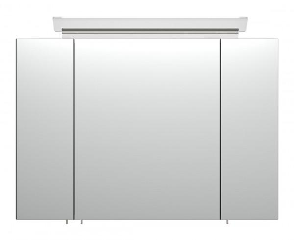 Design Spiegelschrank schwarz mit LED Design Lampe 90 cm