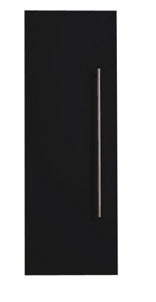 Bad Hochschrank in schwarz Seidenglanz 100 cm