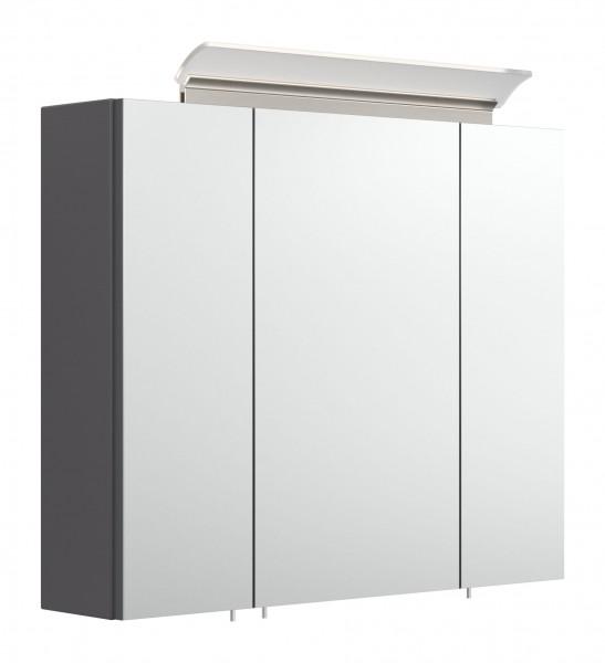 75 cm Spiegelschrank Bad anthrazit Seidenglanz