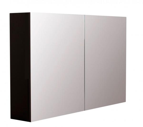 Spiegelschrank Bad schwarz seidenglanz 100 cm mit softclose Türdämpfung