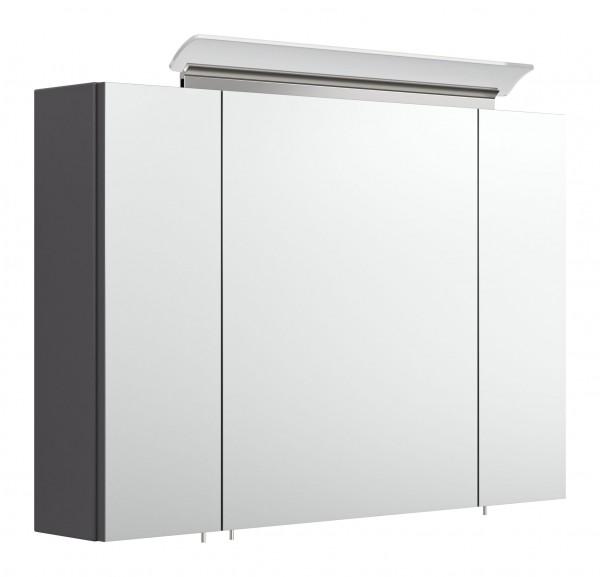 Spiegelschrank Bad 90 cm anthrazit Seidenglanz