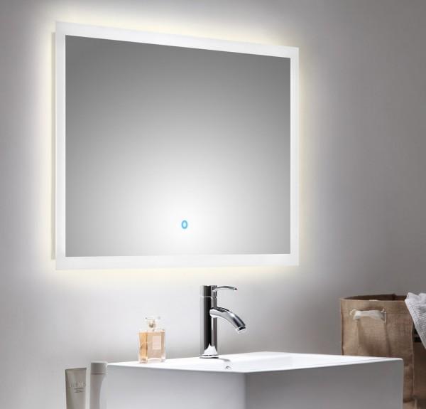 Design Lichtspiegel mit LED Beleuchtung 90x60 cm mit TOuch Bedienung