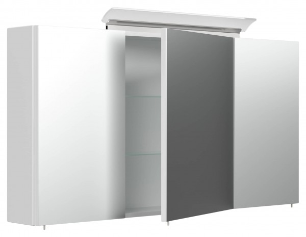 Spiegelschrank Bad 120 cm weiß Hochglanz